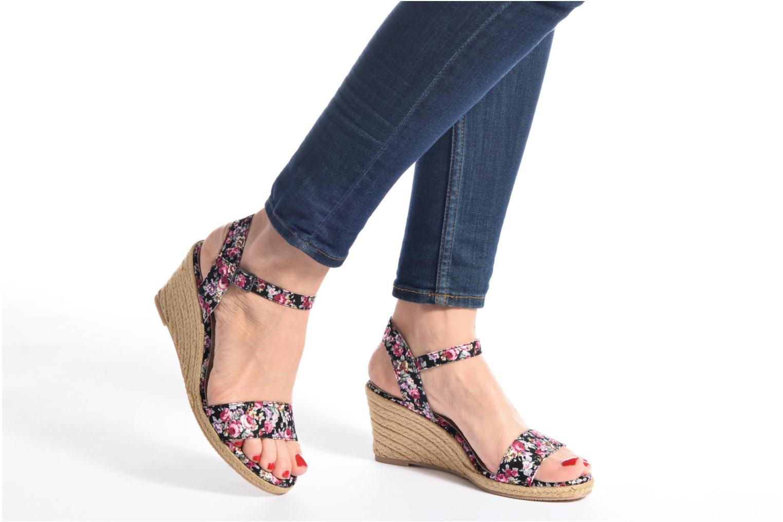 Sandales et nu-pieds Tamaris Nepeta Multicolore vue bas / vue portée sac