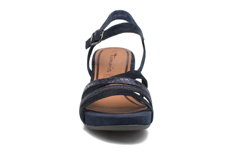 Sandales et nu-pieds Tamaris Euphorbe Bleu vue portées chaussures