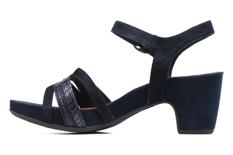 Sandales et nu-pieds Tamaris Euphorbe Bleu vue face