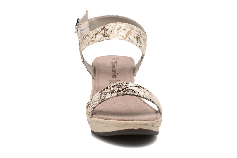 Sandales et nu-pieds Tamaris Khat Beige vue portées chaussures