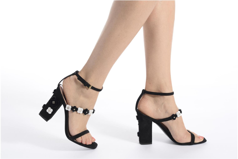 Sandales et nu-pieds Boutique Moschino Palermo Noir vue bas / vue portée sac