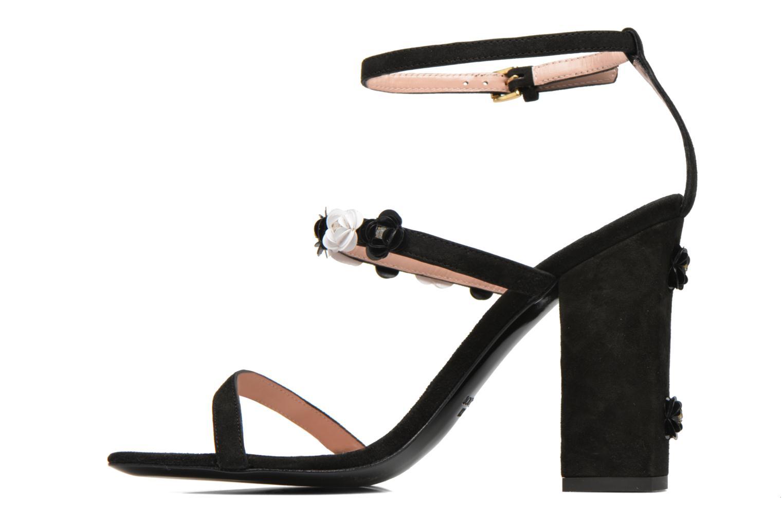 Sandales et nu-pieds Boutique Moschino Palermo Noir vue face