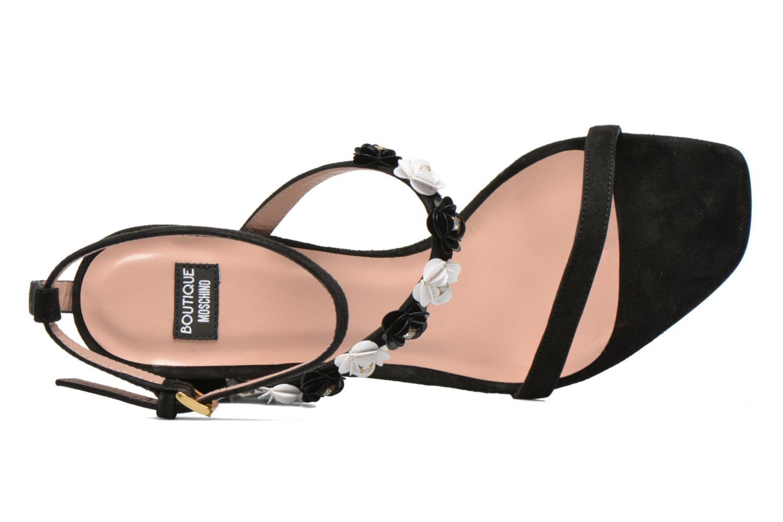 Sandales et nu-pieds Boutique Moschino Palermo Noir vue gauche