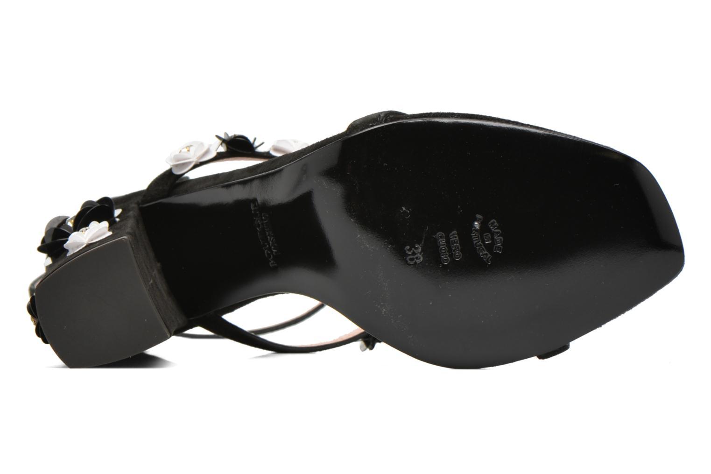 Sandales et nu-pieds Boutique Moschino Palermo Noir vue haut