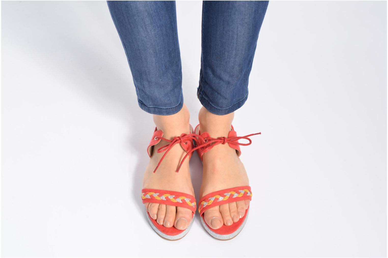Sandales et nu-pieds Divine Factory Oko Orange vue bas / vue portée sac