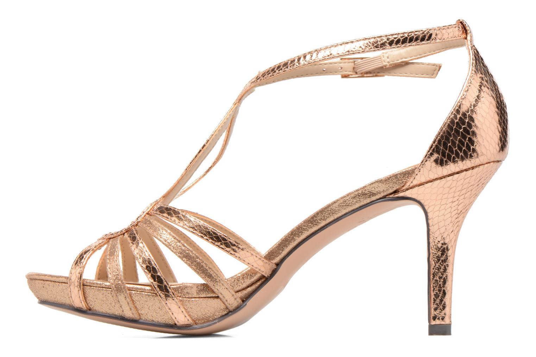 Sandales et nu-pieds Menbur TIFLIS Or et bronze vue face