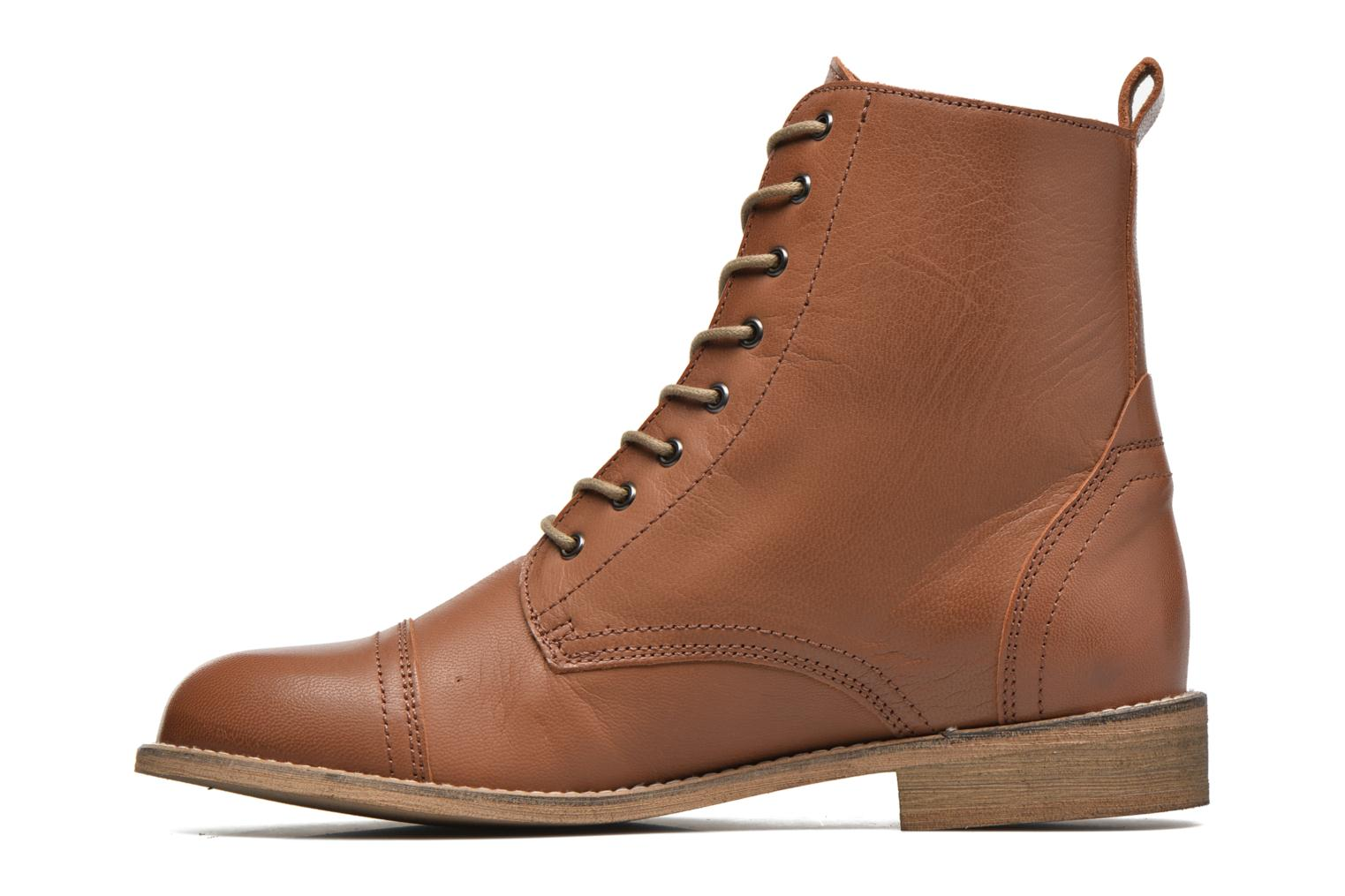 Ankle boots Ippon Vintage Denim Road Brown front view