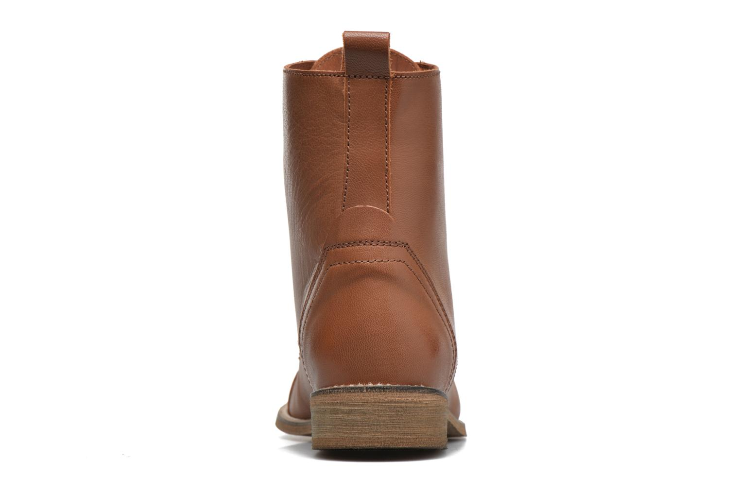 Ankle boots Ippon Vintage Denim Road Brown view from the right
