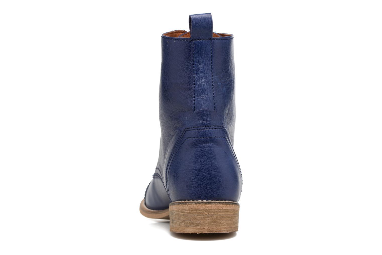 Bottines et boots Ippon Vintage Denim Road Bleu vue droite