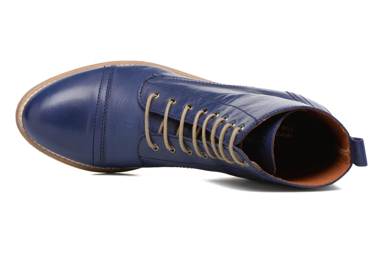 Bottines et boots Ippon Vintage Denim Road Bleu vue gauche