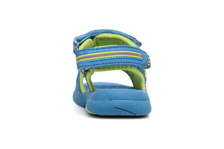 Sandalias LICO Crispy V Azul vista lateral derecha