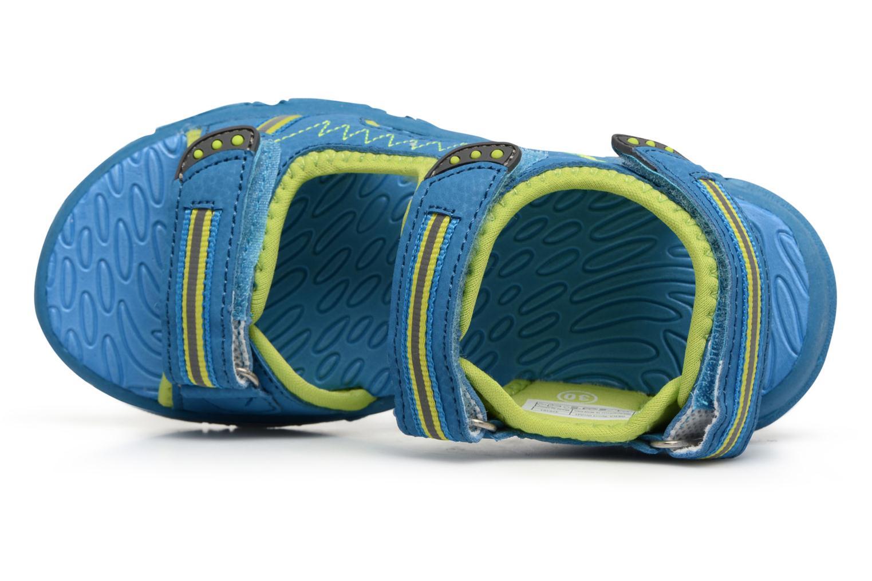 Sandalias LICO Crispy V Azul vista lateral izquierda