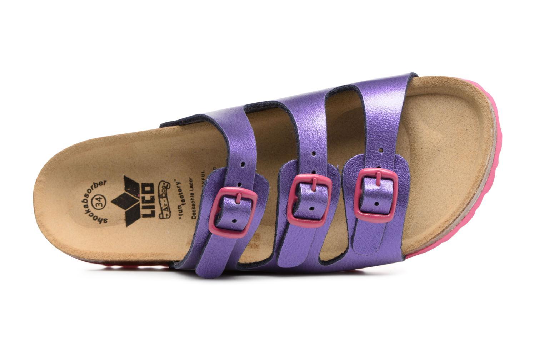 Sandales et nu-pieds LICO Bioline Kids Violet vue gauche