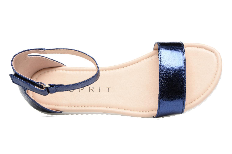 Sandales et nu-pieds Esprit MINA MET SANDAL Bleu vue gauche