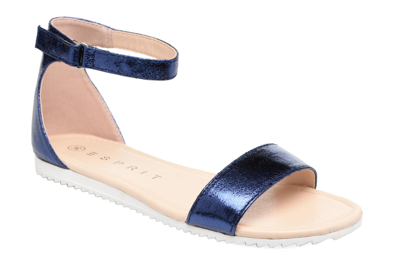 Sandales et nu-pieds Esprit MINA MET SANDAL Bleu vue détail/paire