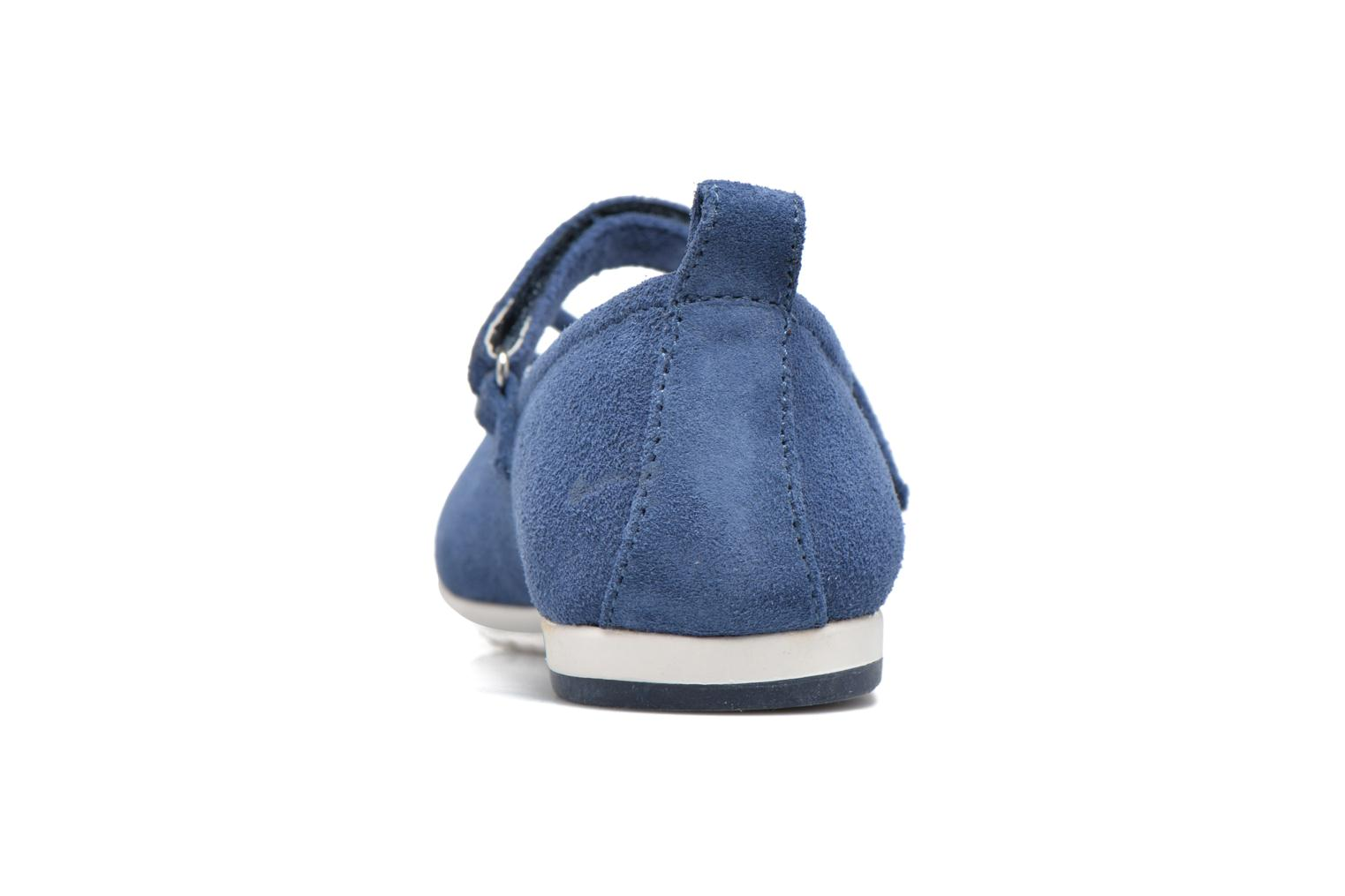 Ballet pumps ASSO Camelia Blue view from the right