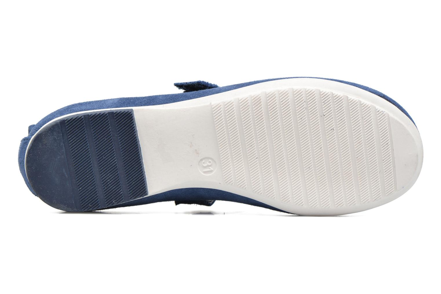 Ballet pumps ASSO Camelia Blue view from above