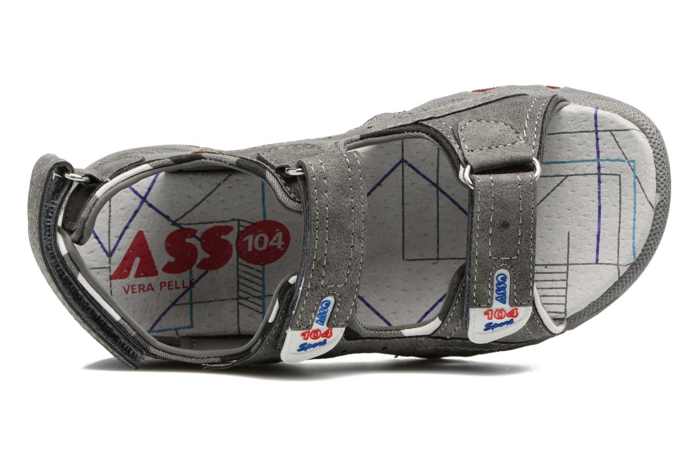 Sandales et nu-pieds ASSO Enzo Gris vue gauche