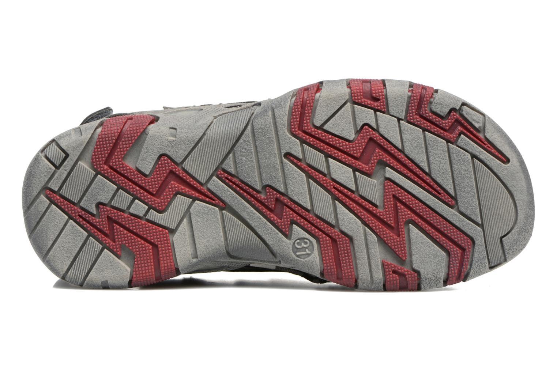 Sandales et nu-pieds ASSO Enzo Gris vue haut