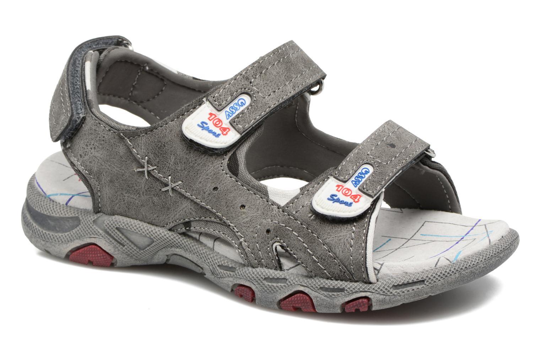 Sandales et nu-pieds ASSO Enzo Gris vue détail/paire