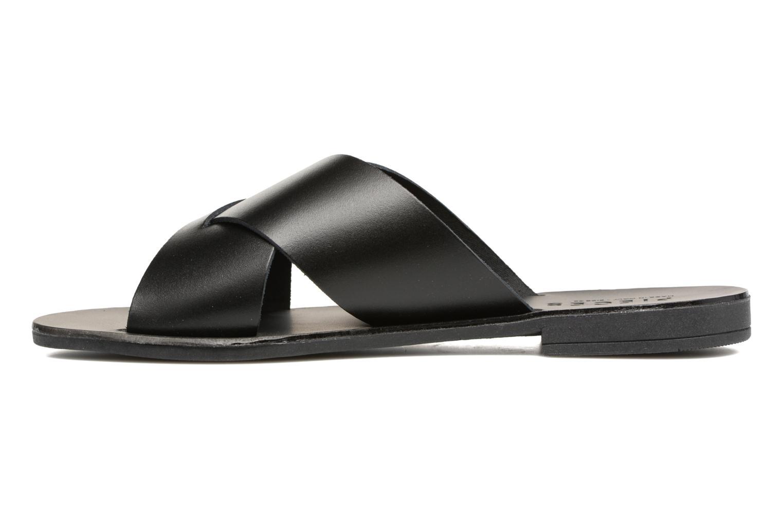 Sandales et nu-pieds Pieces Pslucca Noir vue face