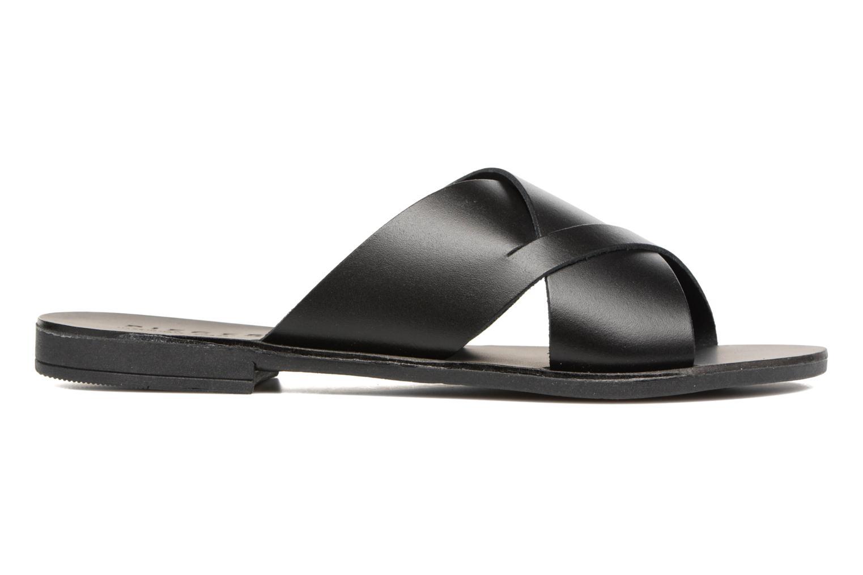 Sandales et nu-pieds Pieces Pslucca Noir vue derrière