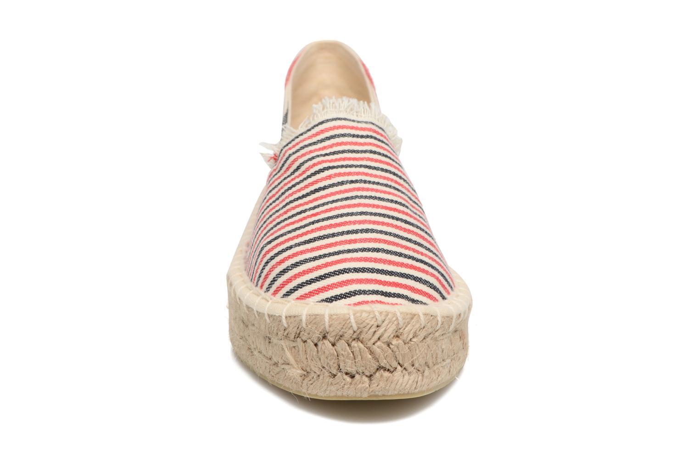 Espadrilles Pieces Haila Espadrillos Rouge vue portées chaussures
