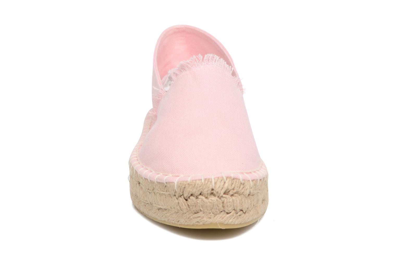 Espadrilles Pieces Haila Espadrillos Rose vue portées chaussures