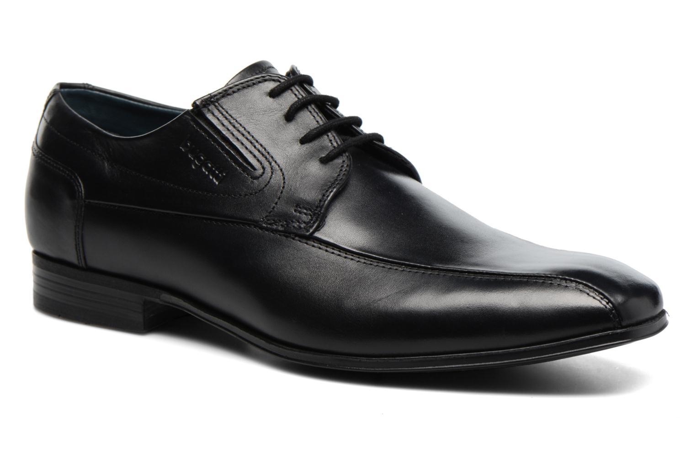 Chaussures à lacets Bugatti Battia Nappa Noir vue détail/paire