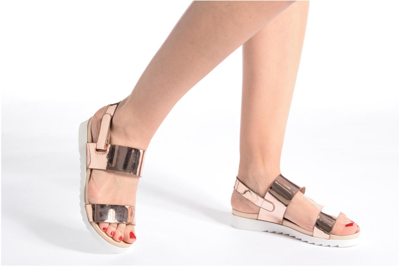 Sandales et nu-pieds I Love Shoes BLEEVA Or et bronze vue bas / vue portée sac