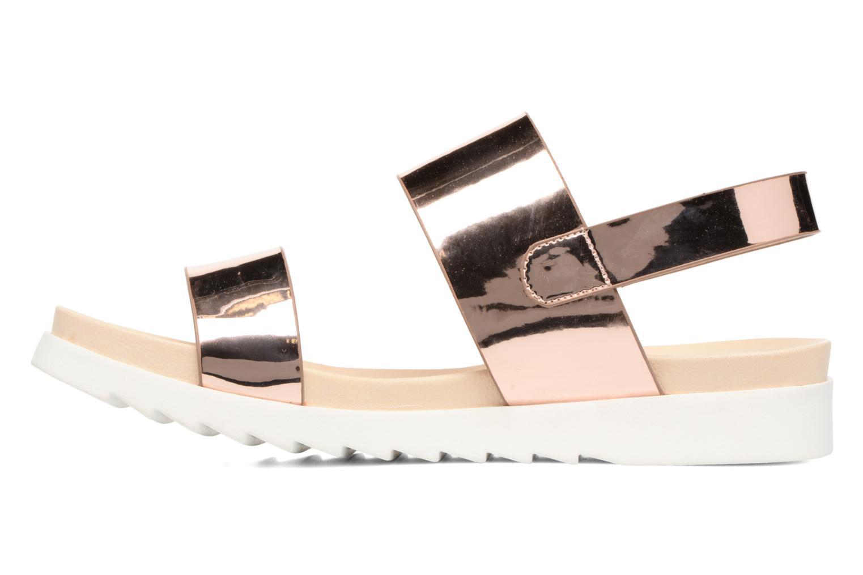 Sandales et nu-pieds I Love Shoes BLEEVA Or et bronze vue face