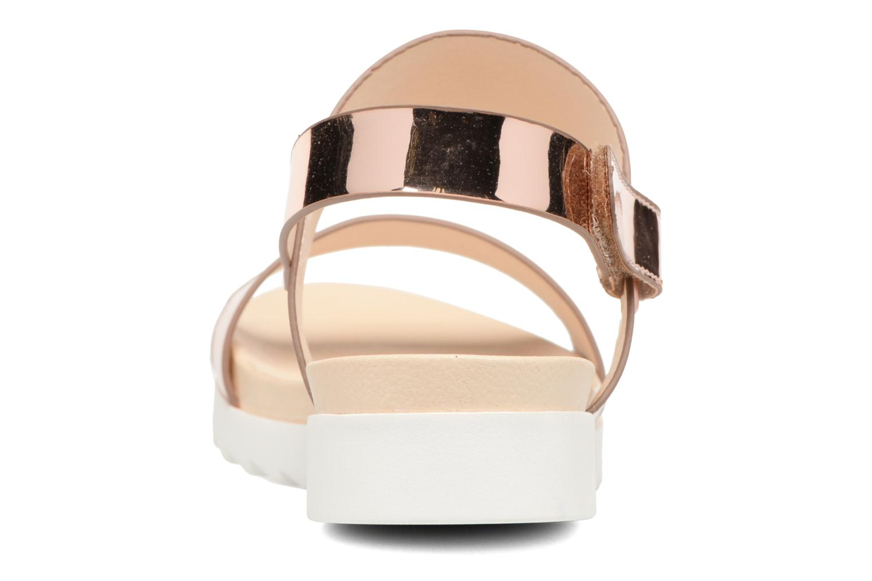 Sandales et nu-pieds I Love Shoes BLEEVA Or et bronze vue droite