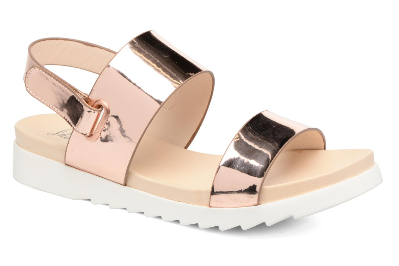 Sandales et nu-pieds I Love Shoes BLEEVA Or et bronze vue détail/paire