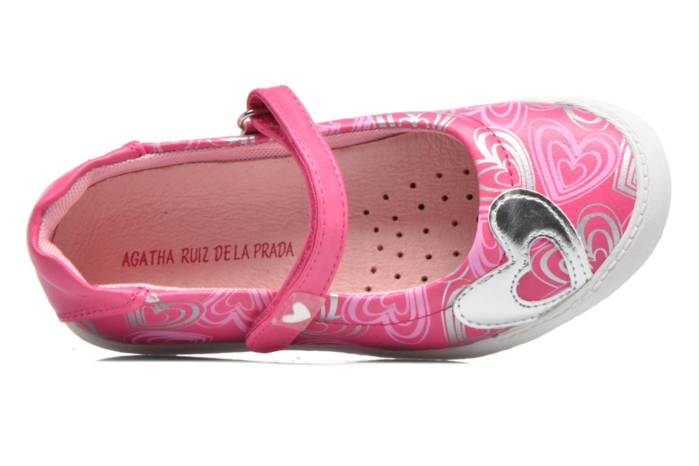 Ballet pumps Agatha Ruiz de la Prada Clever 2 Pink view from the left