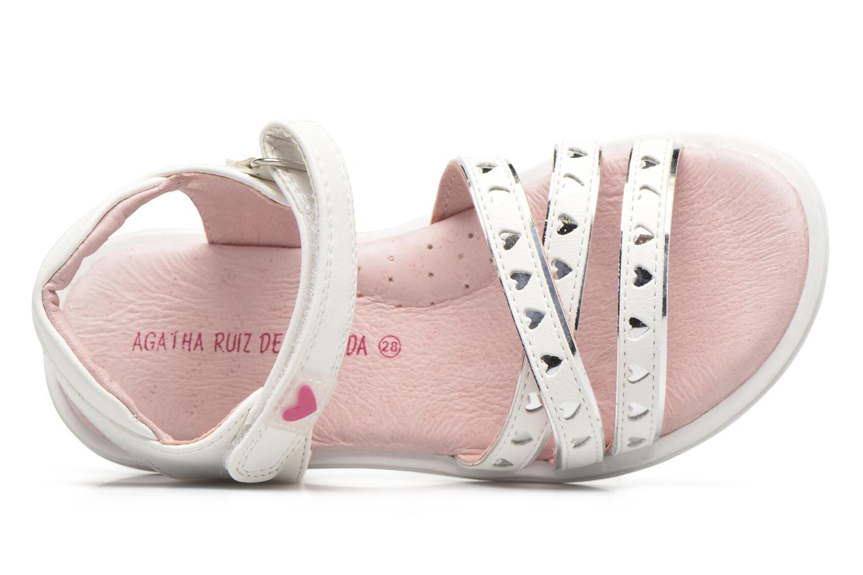 Sandales et nu-pieds Agatha Ruiz de la Prada Beauty Blanc vue gauche