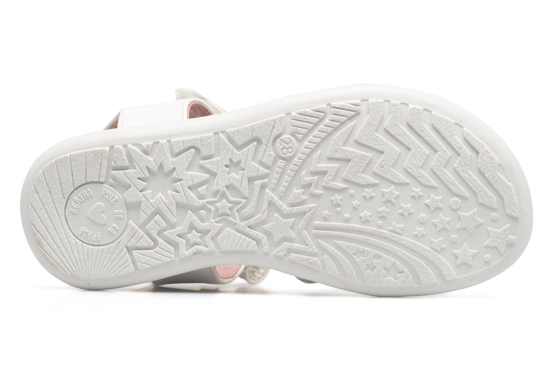 Sandales et nu-pieds Agatha Ruiz de la Prada Beauty Blanc vue haut