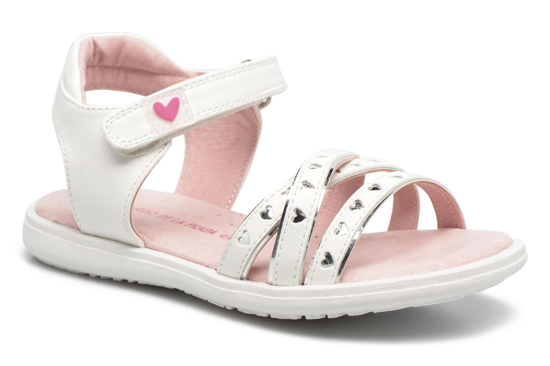 Sandales et nu-pieds Agatha Ruiz de la Prada Beauty Blanc vue détail/paire