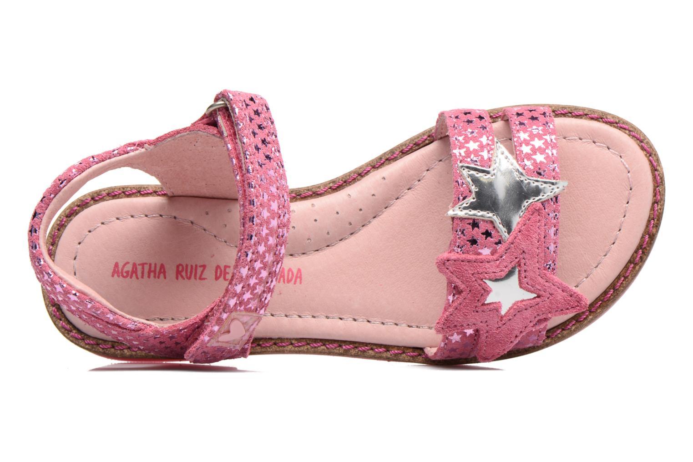 Sandales et nu-pieds Agatha Ruiz de la Prada Miss Ponza 2 Rose vue gauche