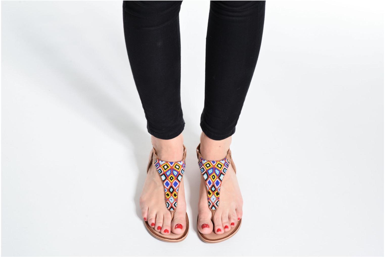 Sandales et nu-pieds Gioseppo Magnume Marron vue bas / vue portée sac