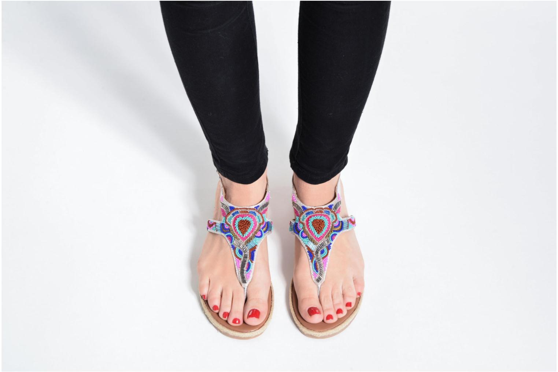 Sandales et nu-pieds Gioseppo Hermione Argent vue bas / vue portée sac