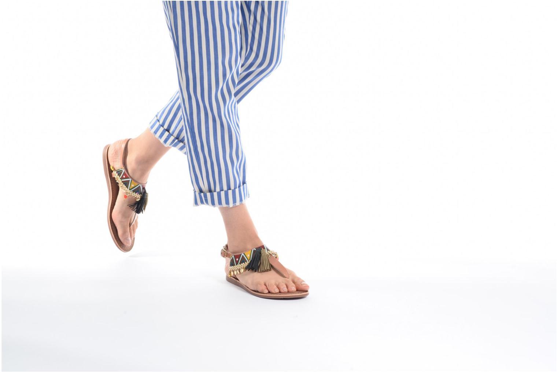 Sandales et nu-pieds Gioseppo Taplai Marron vue bas / vue portée sac