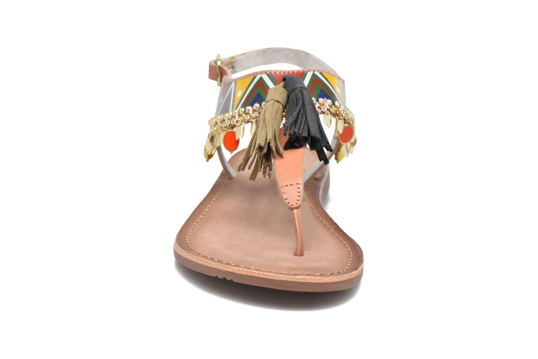 Sandales et nu-pieds Gioseppo Taplai Marron vue portées chaussures