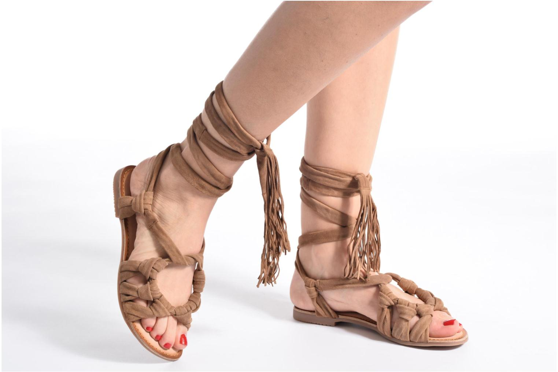 Sandales et nu-pieds Gioseppo Aladina Marron vue bas / vue portée sac