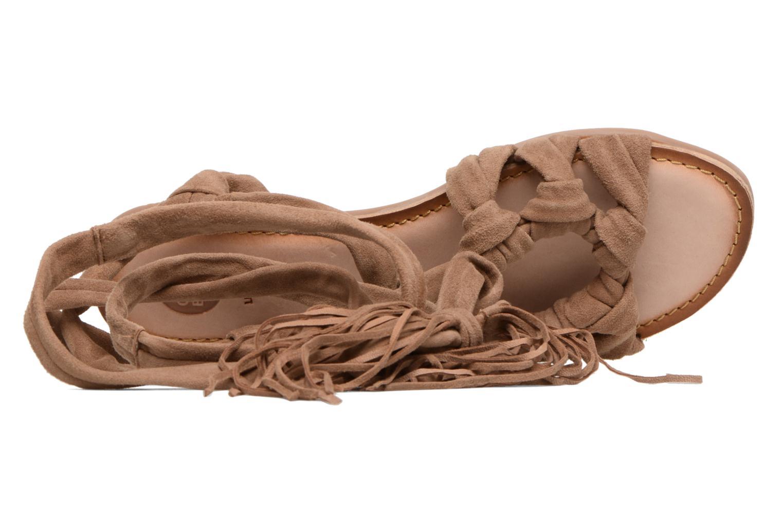 Sandales et nu-pieds Gioseppo Aladina Marron vue gauche