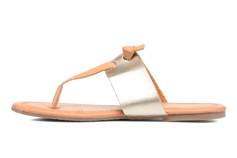 Sandalias I Love Shoes THIVUS Oro y bronce vista de frente