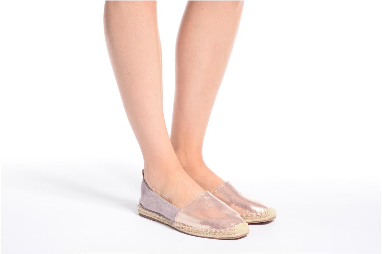 Espadrilles I Love Shoes THETE Argent vue bas / vue portée sac