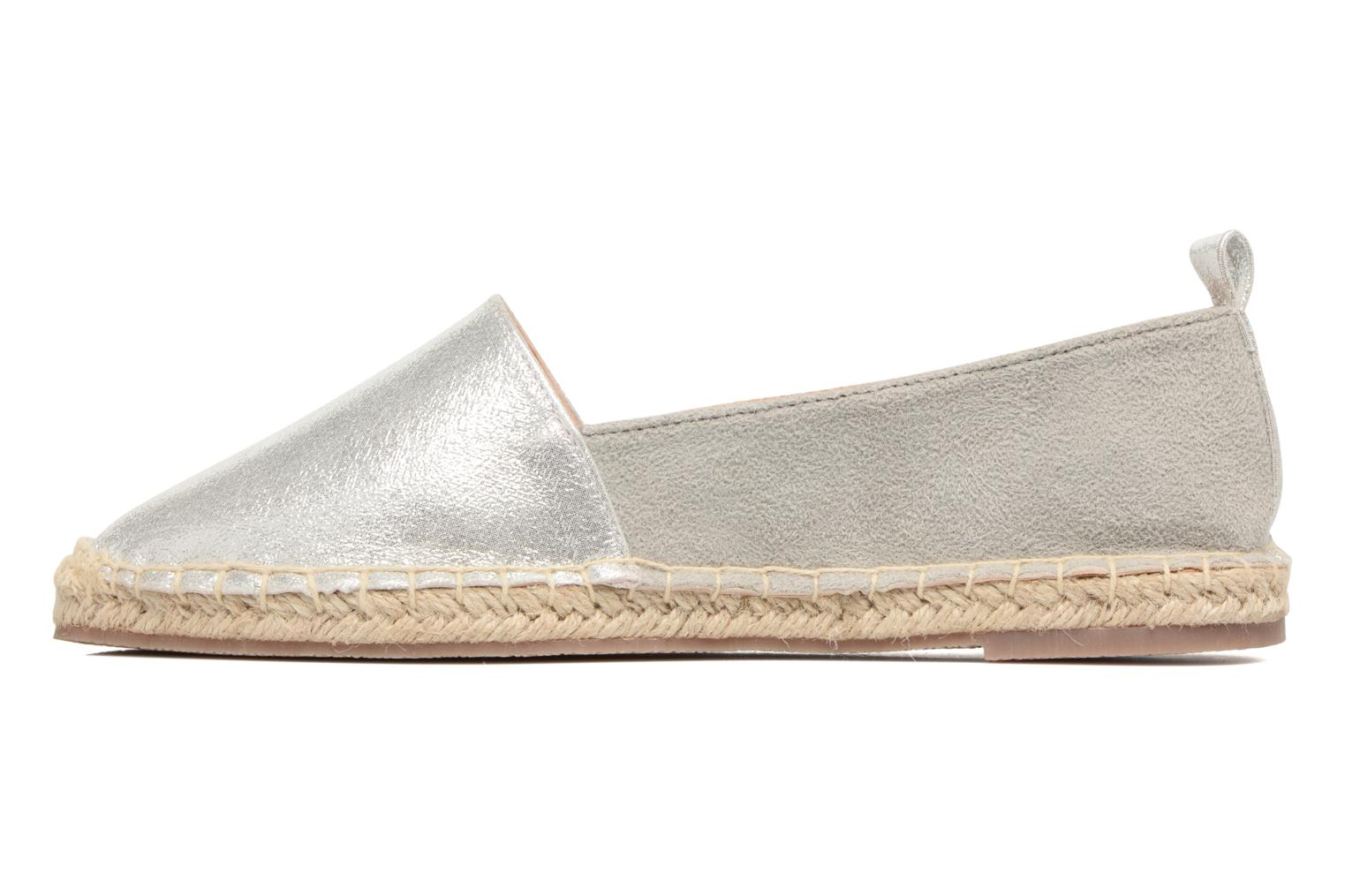 Espadrilles I Love Shoes THETE Silver front view