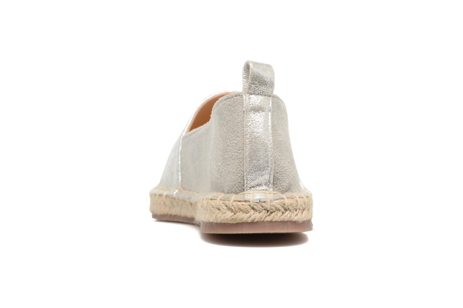 Espadrilles I Love Shoes THETE Silver view from the right