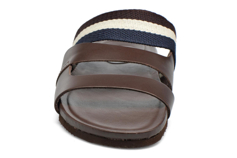 Sandales et nu-pieds Gioseppo Pompilio Marron vue portées chaussures