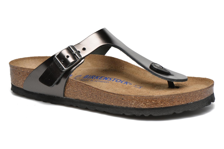 Sandales et nu-pieds Birkenstock Gizeh W Gris vue détail/paire